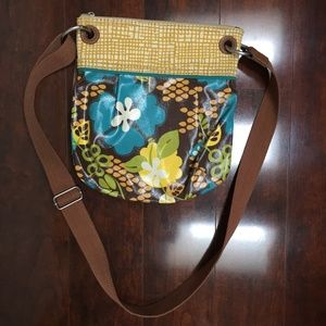Fossil Key-Per Coated Floral Canvas Crossbody Hand